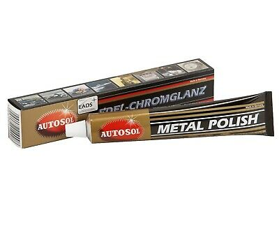 3x AUTOSOL Metal Polish Edel-Chromglanz 75 ml Chrom Metall Politur Reinigung