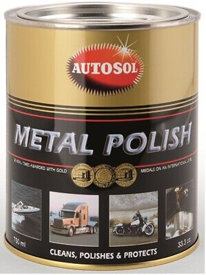 AUTOSOL Metal Polish Edel-Chromglanz 750 ml Dose Chrom Metall Politur Reinigung