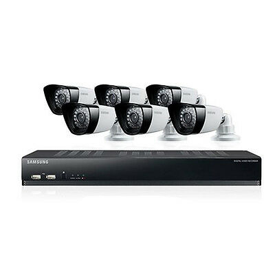 Samsung SDS-P5102 16 Channel DVR Security System with 6 Cameras, 2TB HDD RFB