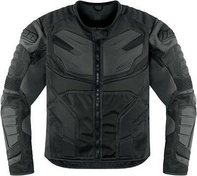 Icon Overlord Resistance black armored motorcycle textile jacket