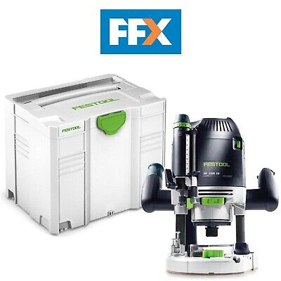Festool 574396 Of2200 Eb-Set 110v 1.3cm Défonceuse 2200w en Systainer 4 T-Loc