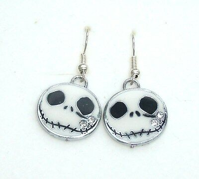 Jack Nightmare Before Christmas Charm Earrings In Gift Bag Pumpkin King