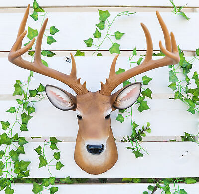 Deer Buck Head Bust Hanging Wall Mount Home Decor Collection Statue Figurine