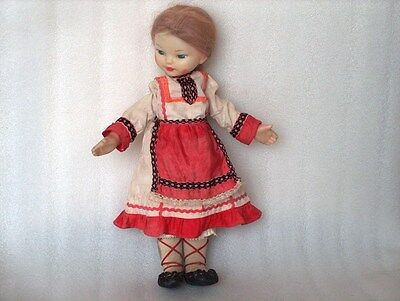 Vintage Russian Doll In National/traditional Costume, Ussr, 1960-70
