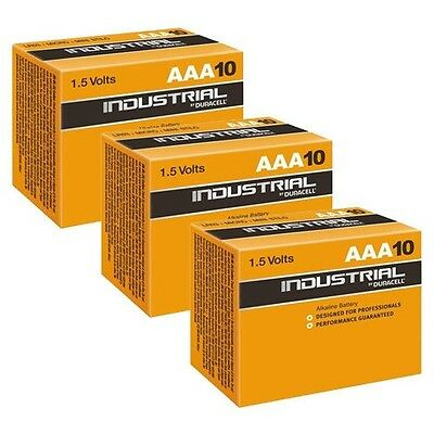 30 X DURACELL INDUSTRIAL ALKALINE AAA BATTERIES EXPIRY2021 PROFESSIONAL 1.5v