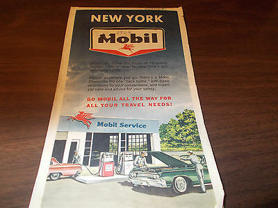1964 Mobil New York Vintage Road Map
