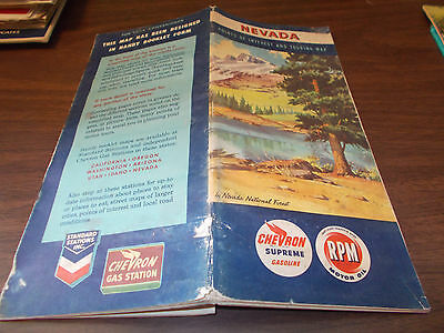 1952 Chevron Nevada Vintage Road Map and Guide