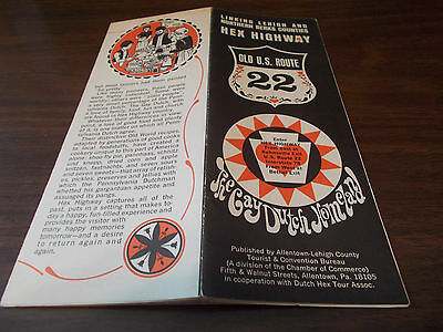 1960s Old US 22 Hex Highway, Pennsylvania Travel Brochure