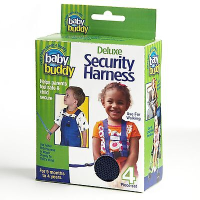 Deluxe Security Harness By Baby Buddy for Children/Toddler Color: BLACK