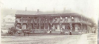Cabinet Photograph of the Rock City Hotel c1900-10 ~ Illinois or Tennessee?