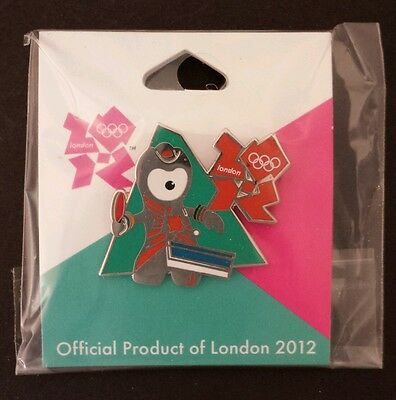 Table Tennis Olympic Pin Badge~2012~Mascot~Wenlock~Official Product of London