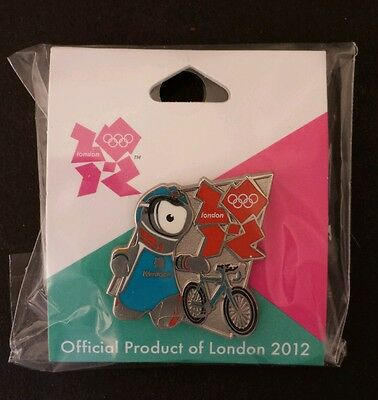 Triathlon Olympic Pin Badge~2012~Mascot~Wenlock~New~Official Product of London