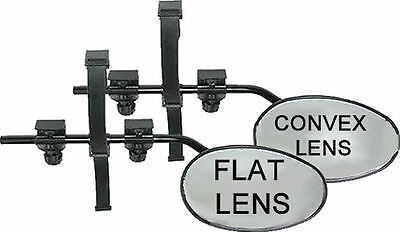 New Universal Pair Of Towing Extension Wing Flat And Convex  Lens Mirrors