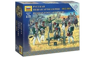 Zvezda 6809 - 1/72 Figuren-Set Russian Foot Artillery 1812-1814 - Neu