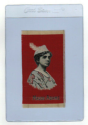 MAUDE ADAMS as PETER PAN on 1912 Tobacco Silk RED Background