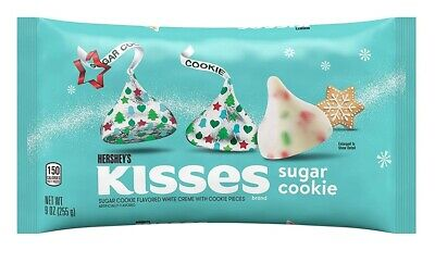HERSHEYS CANDY CANE KISS White Chocolate BB-10/2019 Peppermint hershey kisses