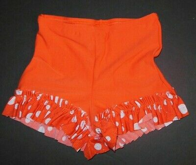 NWT Matte Spandex shorts with Ruffled dotted hem Majorette Dancing Dance Shorts