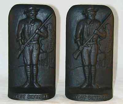 1976 Cast Iron Bookends Bicentennial Reading PA Landis