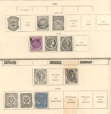 COLOMBIA Colombian Republic SPECIALIZED PAGES 1876 - 1907 Mint & Used SOME LOOSE