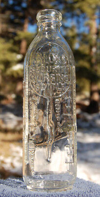 Antique BECK'S SECURITY NURSING BOTTLE scarce early ABM