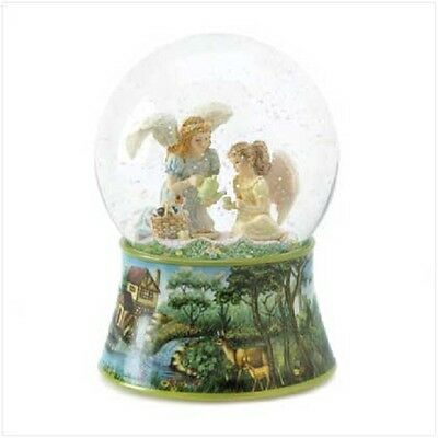 ANGEL TEA TIME MUSICAL WATERGLOBE