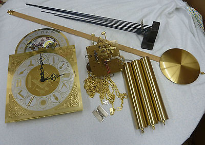 Complete Masonic Grandfather Clock Package-Mvmt,Dial,Pendulum, Weights,Ch/Block