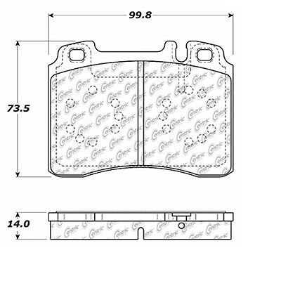 Disc Brake Pad-Posi-Quiet Extended Wear Pads w/Shims & Hardware fits 90-93 300CE