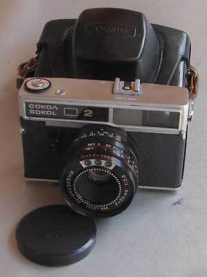 Rare Soviet LOMO SOKOL-2 35mm RF camera with Industar-70 2.8/50mm lens, EXC
