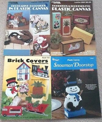 DOORSTOPS Book Ends BRICK COVERS Decorations... LOT 4 Pattern Booklets
