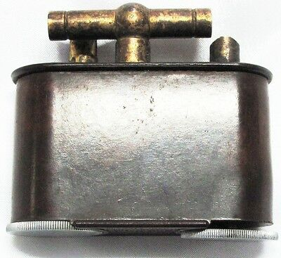 """TABLE LIGHTER, """"THE CLASSIC JUMBO"""", VINTAGE, BROWN, INCOMPLETE, NO FUEL"""