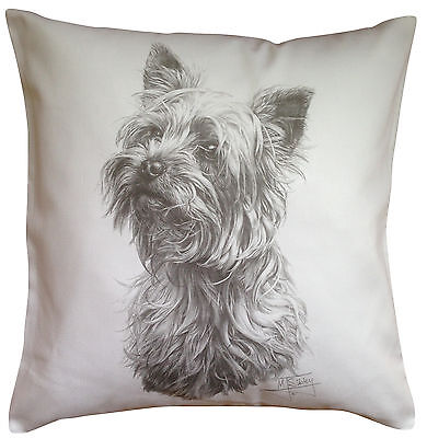 Yorkshire Terrier Yorkie MS Breed of Dog Cotton Cushion Cover - Perfect Gift