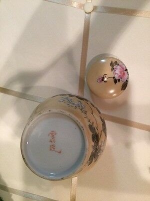 Antique Signed Asian Hand Painted Ginger Jar Rare Piece Exquisite