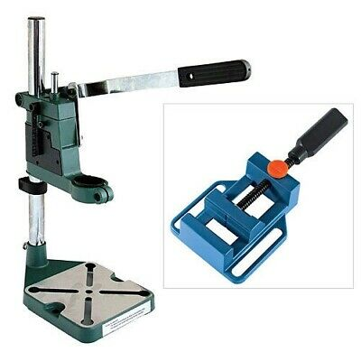 PLUNGE POWER DRILLING STAND BENCH PILLAR PEDESTAL CLAMP + 65mm DRILL PRESS VICE