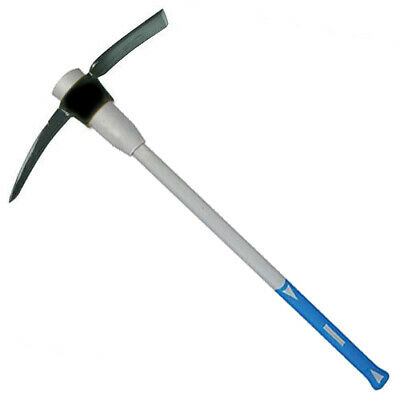 5lb MATTOCK PICKAXE WITH FIBREGLASS SHAFT & NON SLIP RUBBER GRIP HANDLE PICK AXE