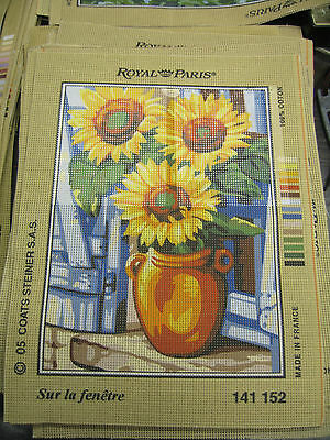 59 NEW ROYAL PARIS TAPESTRY NEEDLEPOINT CANVASES SIZE 141 22x29.5 cm £1500+ RRP