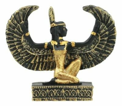 Egyptian Goddess Of Justice Maat With Open Wings Dollhouse Miniature Statue