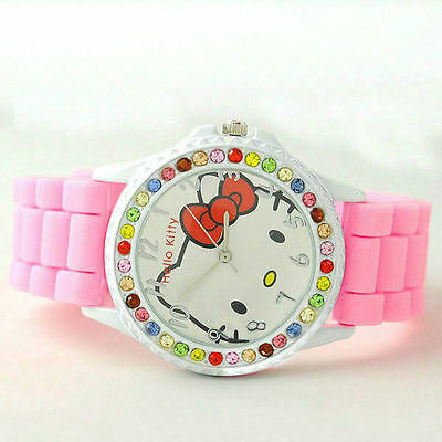 Fashion Children Kids Girl Lady HelloKitty designer Style Quartz Watches gift