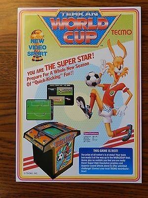 Tehkan - World Cup Arcade Game Advertising Flyer