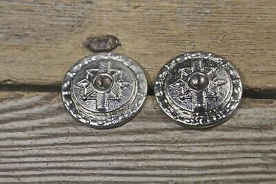 2 Stair Carpet runner buttons nickel washer old vintage screws Victorian rosette