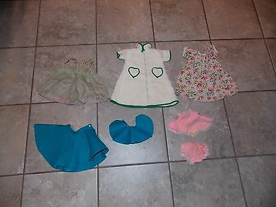 Vintage doll clothing lot handmade + factory sequin dress terry bath robe