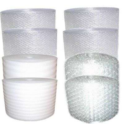 630-700 ft 6 Inch Foam + Medium AND Small Bubble Cushion Wrap and foam Combo