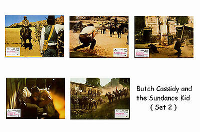 Butch Cassidy & Sundance Kid - Set Of 5 A4 Sized Reprint Lobby Posters # 2
