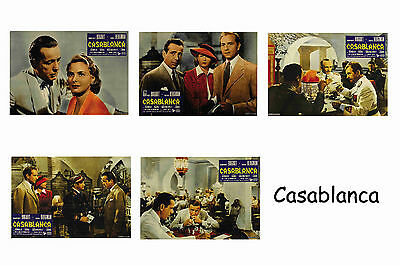Casablanca - Set Of 5 A4 Sized Reprint Lobby Posters