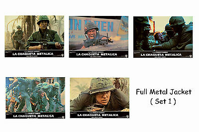 Full Metal Jacket - Set Of 5 A4 Sized Reprint Lobby Posters # 1