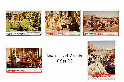 Lawrence Of Arabia - Set Of 5 A4 Sized Reprint Lobby Posters # 2