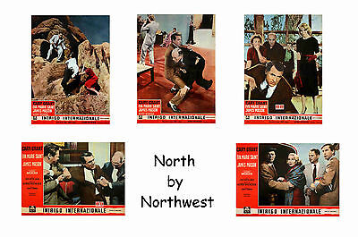 North By Northwest - Set Of 5 A4 Sized Reprint Lobby Posters # 1