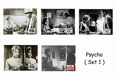 Psycho  - Set Of 5 A4 Sized Reprint Lobby Posters # 1