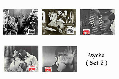 Psycho  - Set Of 5 A4 Sized Reprint Lobby Posters # 2