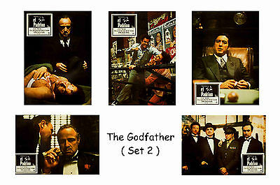 The Godfather  - Set Of 5 A4 Sized Reprint Lobby Posters # 2