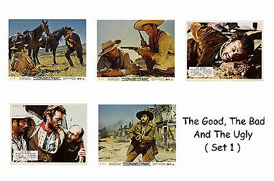 The Good The Bad & The Ugly  - Set Of 5 A4 Sized Reprint Lobby Posters # 1